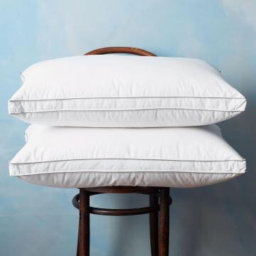 80% Goose Down Standard Pillow Pair - Medium/Firm