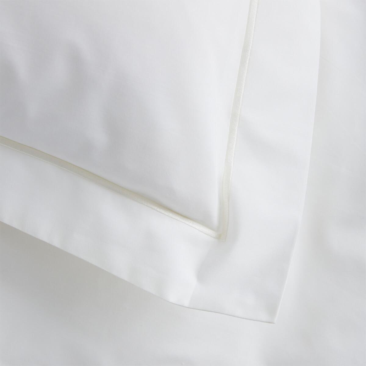 Ivory 200 Thread Count Egyptian Cotton Standard Oxford Pillowcase Pair