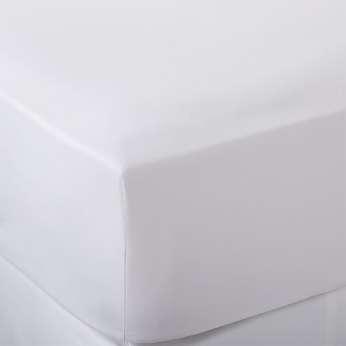 White 400 Thread Count Egyptian Cotton Single Flat Sheet