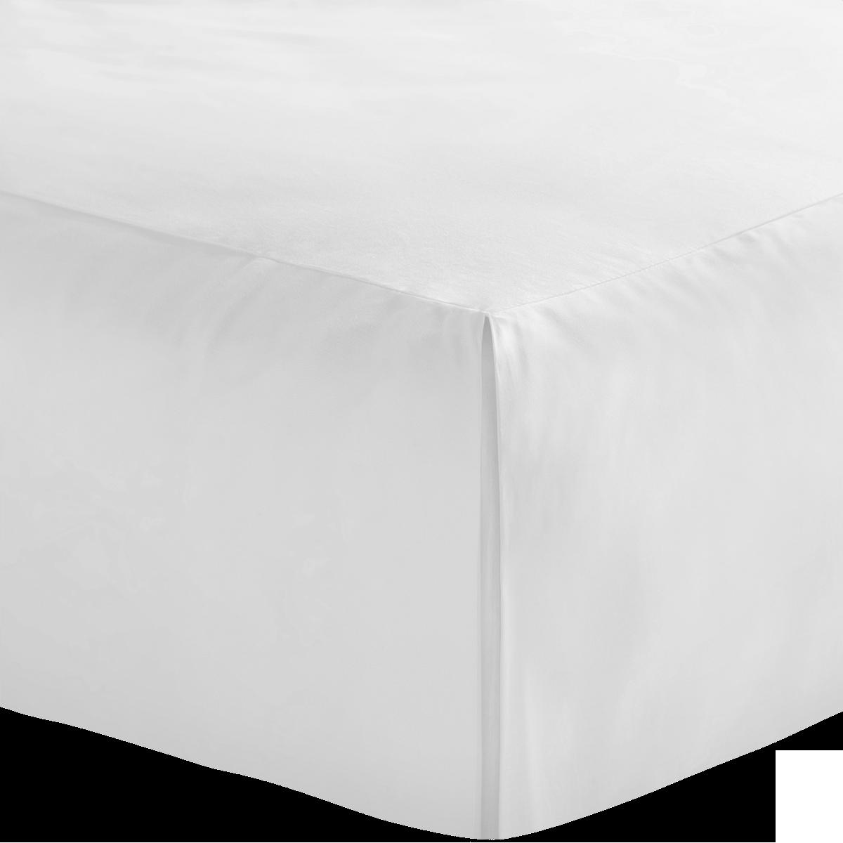 White 600 Thread Count Egyptian Cotton Double Valance