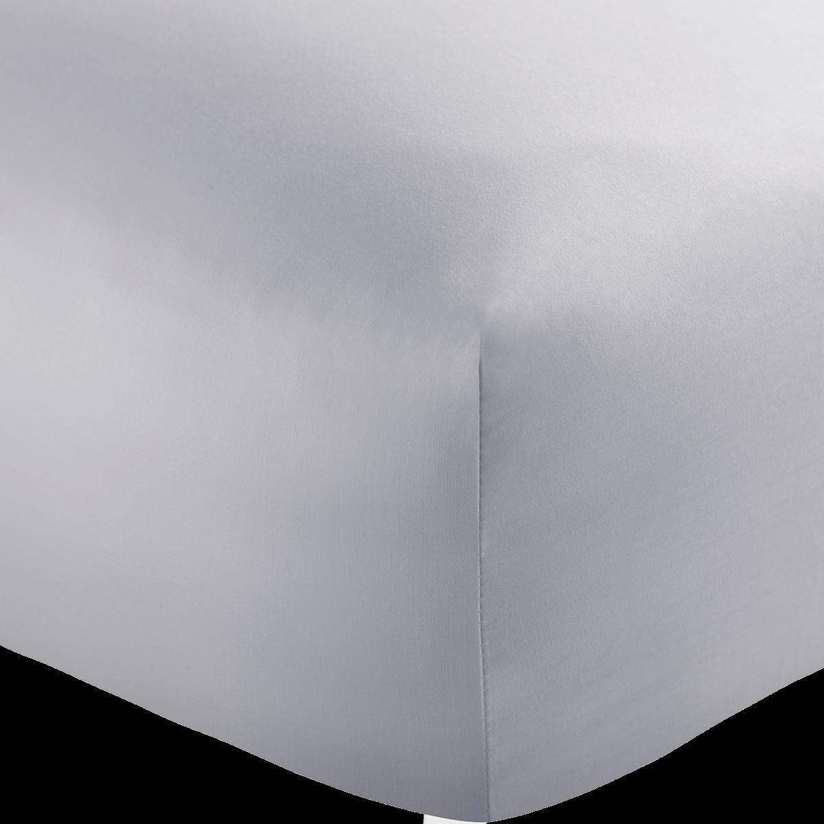 Light Grey 600 Thread Count Egyptian Cotton Superking Flat Sheet