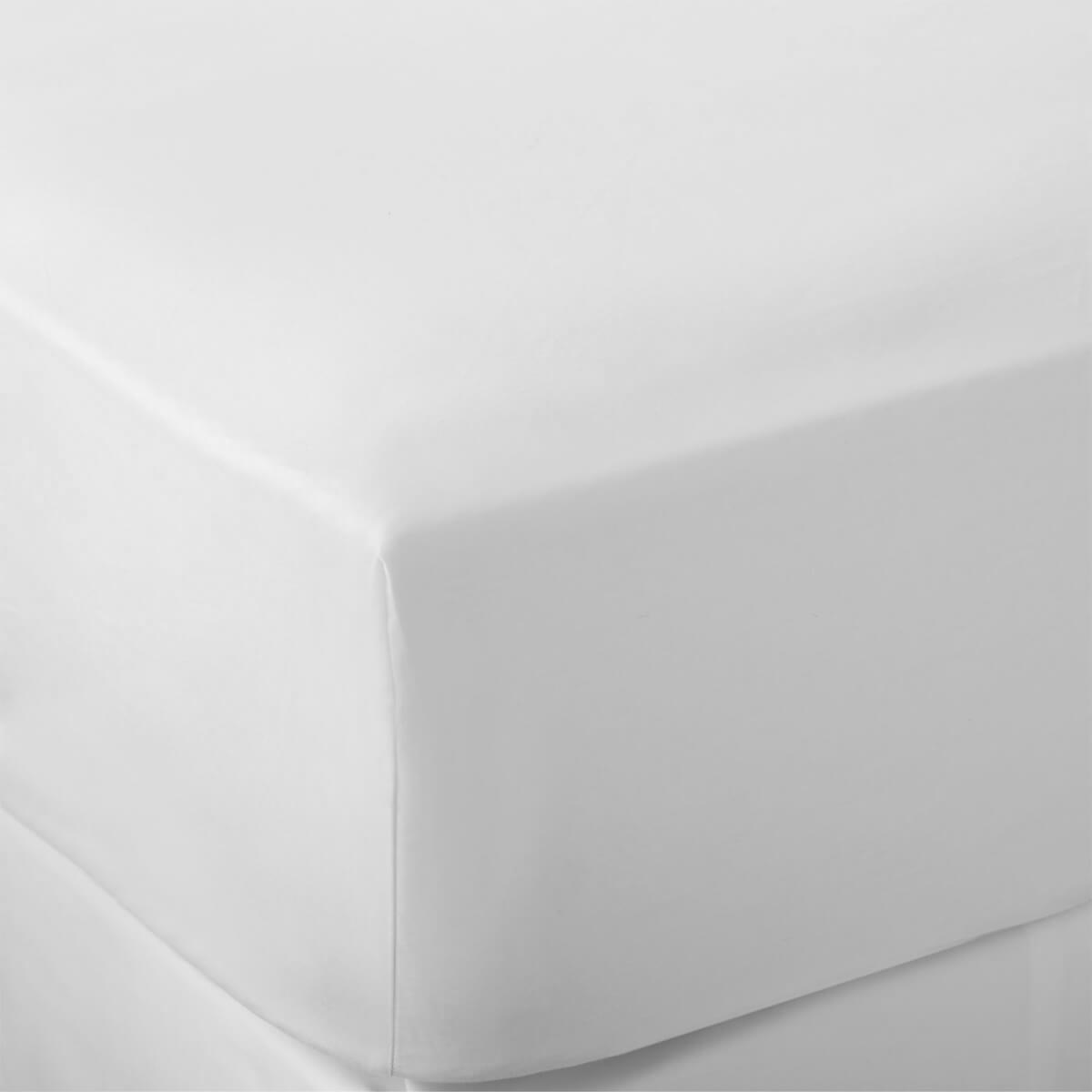 White 600 Thread Count Egyptian Cotton Superking Flat Sheet