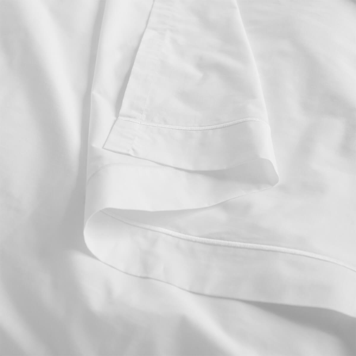 White 200 Thread Count Egyptian Cotton Superking Flat Sheet