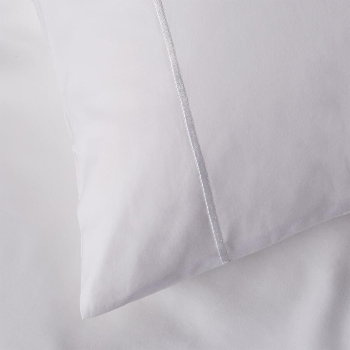 White 400 Thread Count Egyptian Cotton Superking Housewife Pillowcase Pair