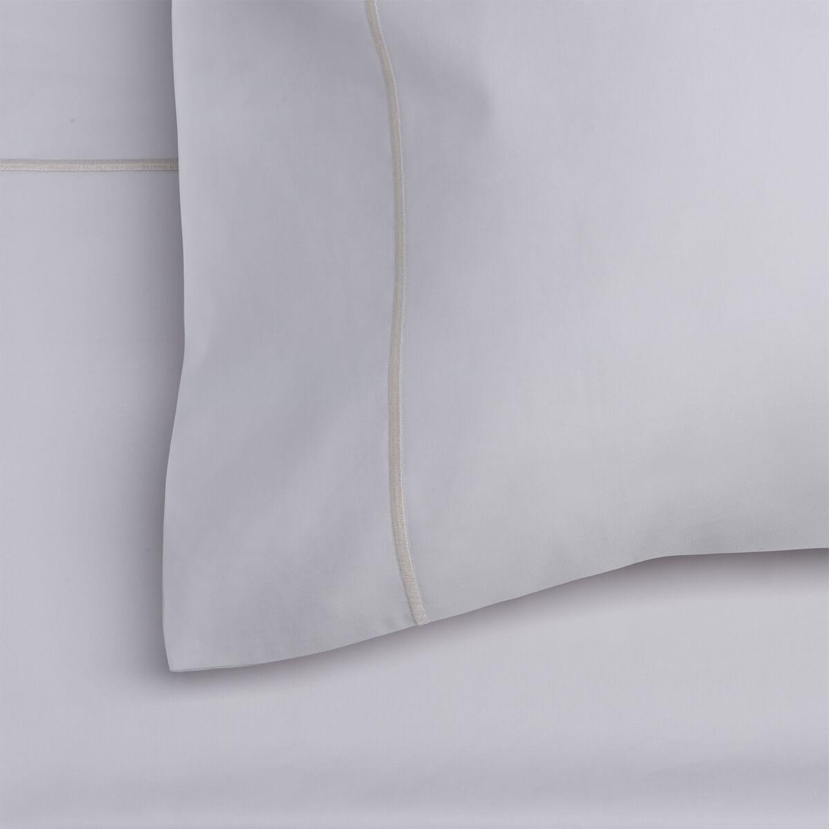 Light Grey 600 Thread Count Egyptian Cotton Standard Housewife Pillowcase Pair