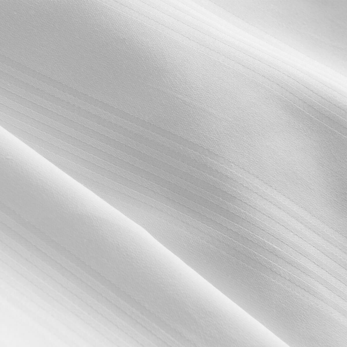 White 400 Thread Count Dobby Stripe Egyptian Cotton Superking Oxford Pillowcase Pair