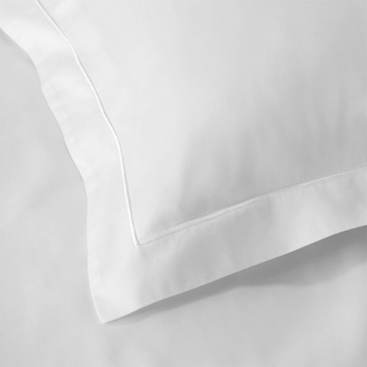 White 600 Thread Count Egyptian Cotton Euro Small Oxford Pillowcase Pair
