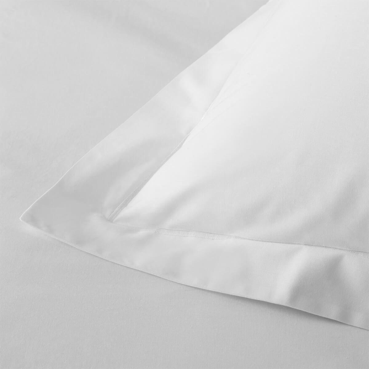 White 200TC Cotton Percale Standard Oxford Pillowcase Pair