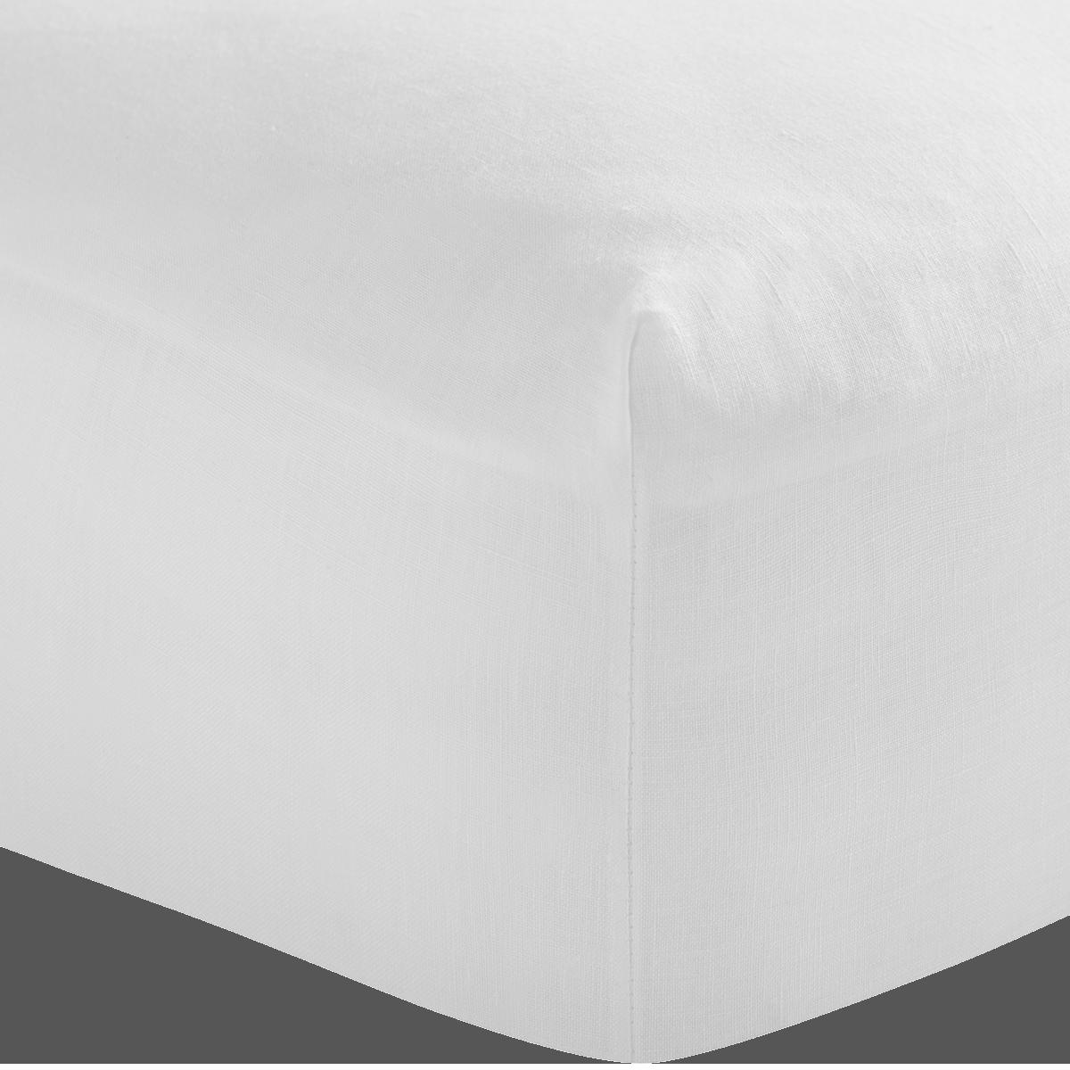 White French Linen Double Flat Sheet