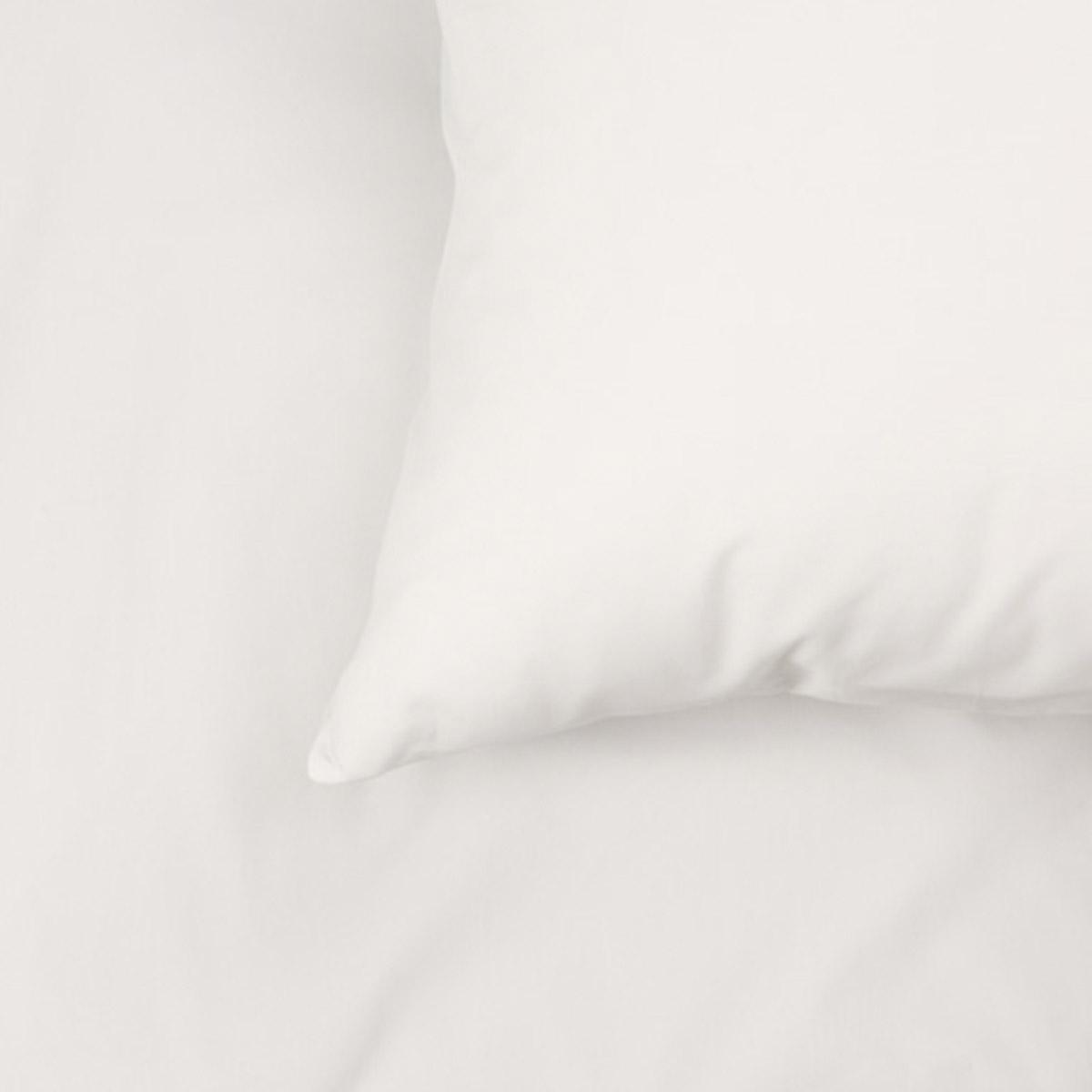 White 200 Thread Count Organic Cotton Standard Housewife Pillowcase Pair