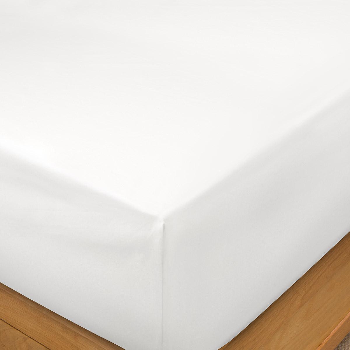 White 1000 Thread Count Supima Cotton King Size Flat Sheet