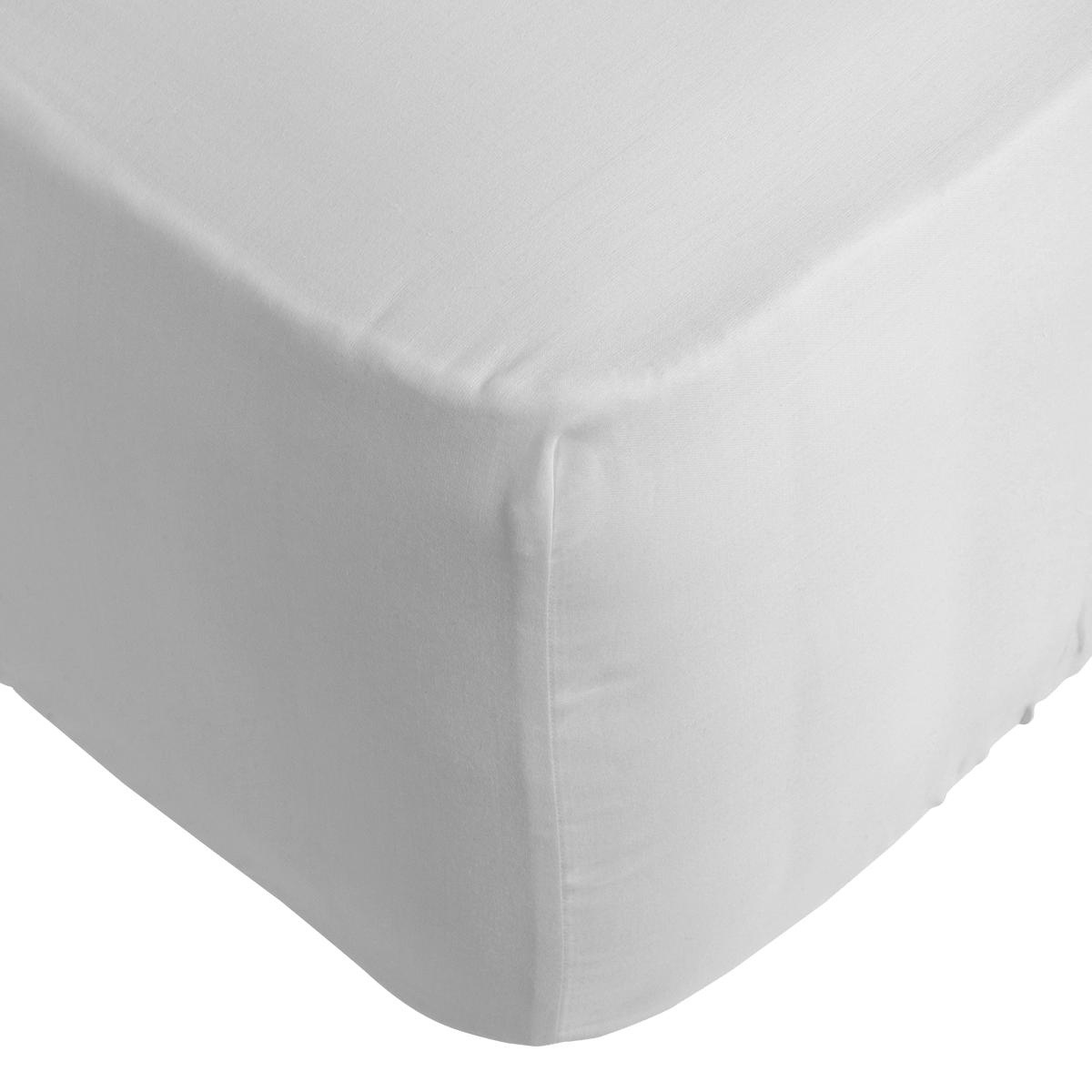 White 300 TC Easycare Cotton With Tencel Double Flat Sheet