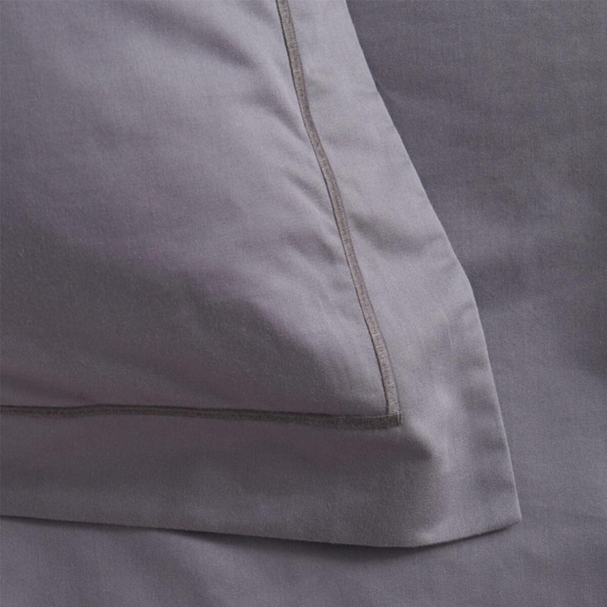 Dark Grey 600 Thread Count Egyptian Cotton Superking Oxford Pillowcase Pair