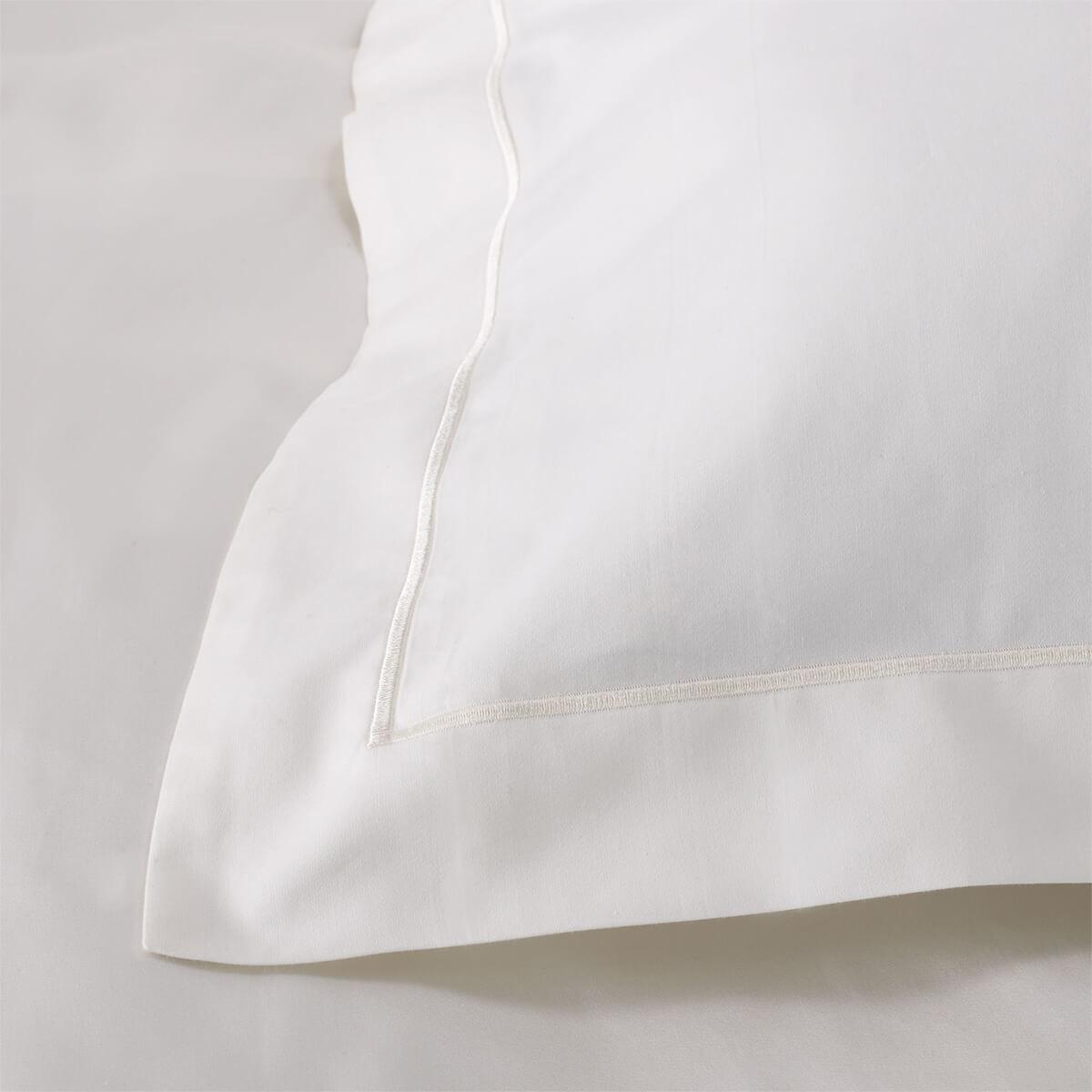 Ivory 600 Thread Count Egyptian Cotton Standard Oxford Pillowcase Pair
