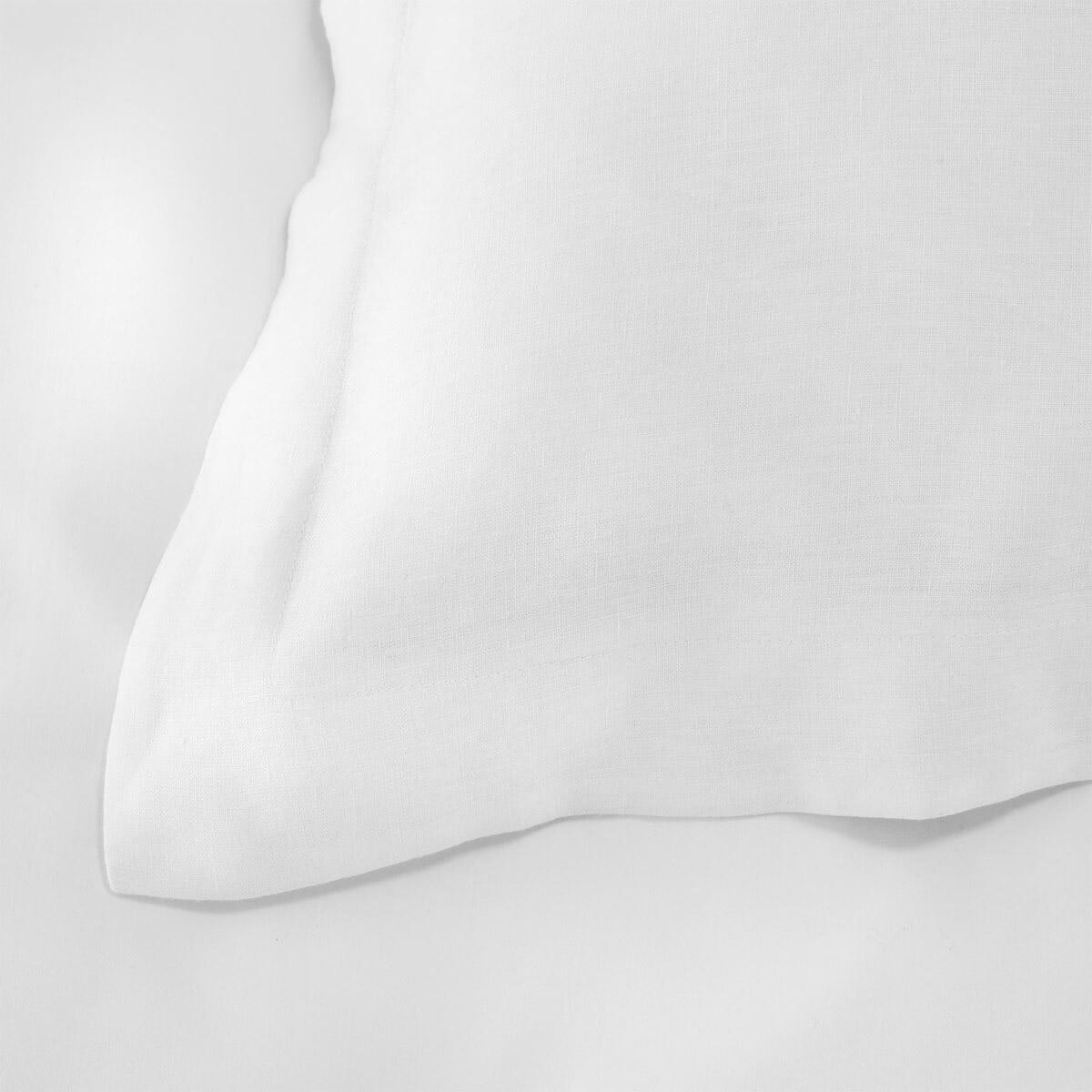 White French Linen Square Oxford Pillowcase Pair
