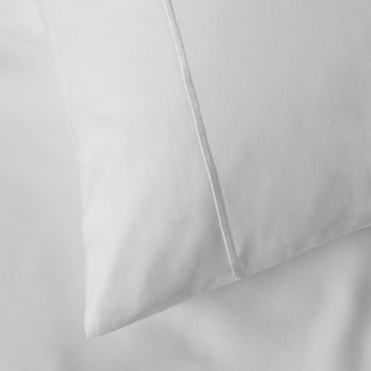 White 600 Thread Count Egyptian Cotton Standard Housewife Pillowcase Pair