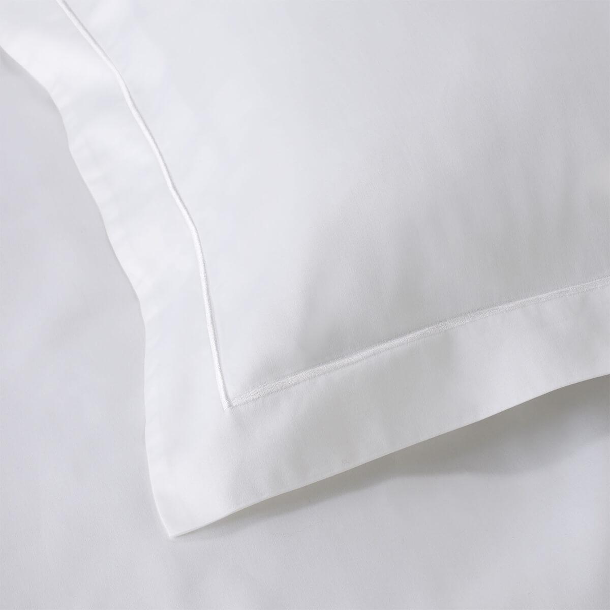 White 400 Thread Count Egyptian Cotton Euro Small Oxford Pillowcase Pair
