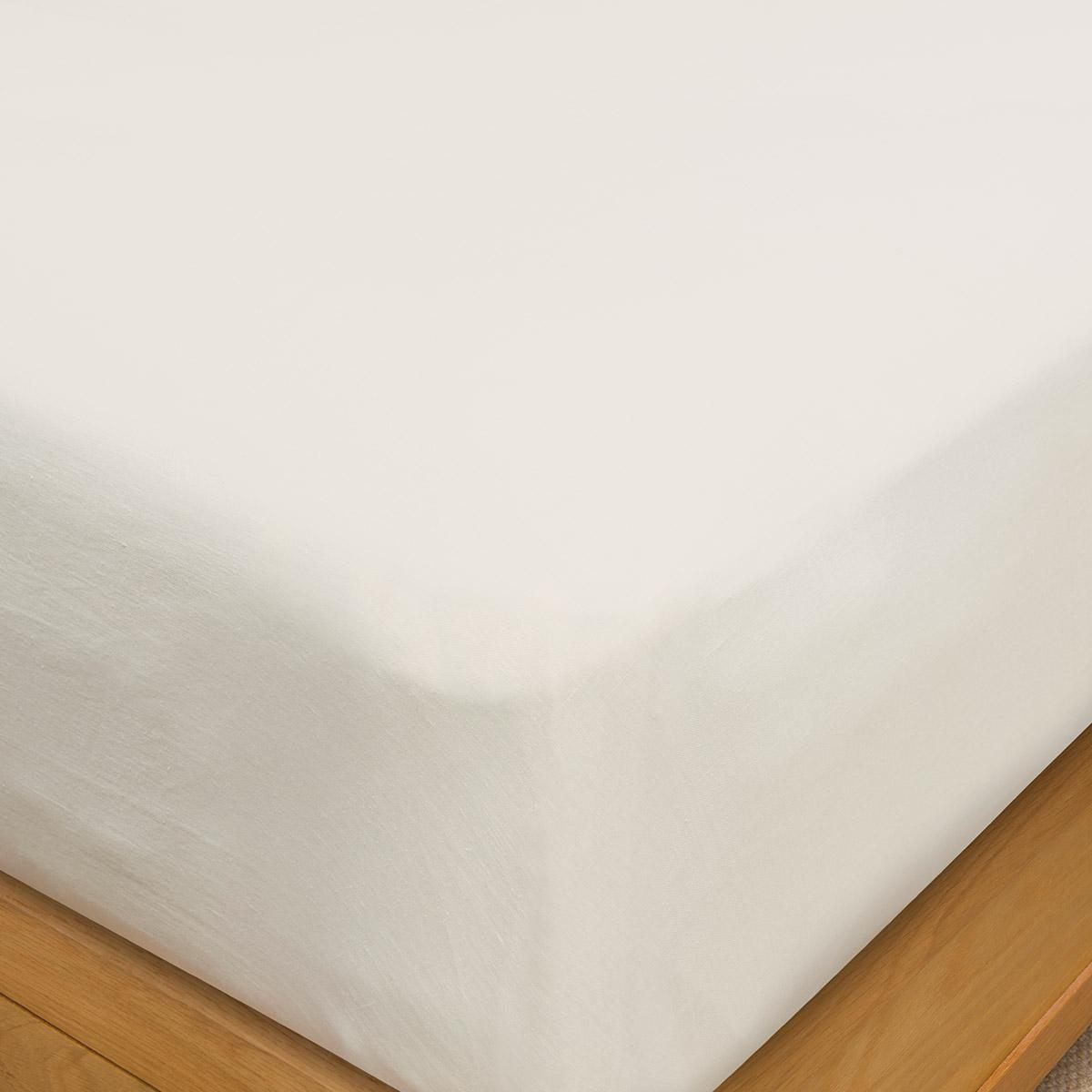 Chalk Pure Hemp Double Flat Sheet