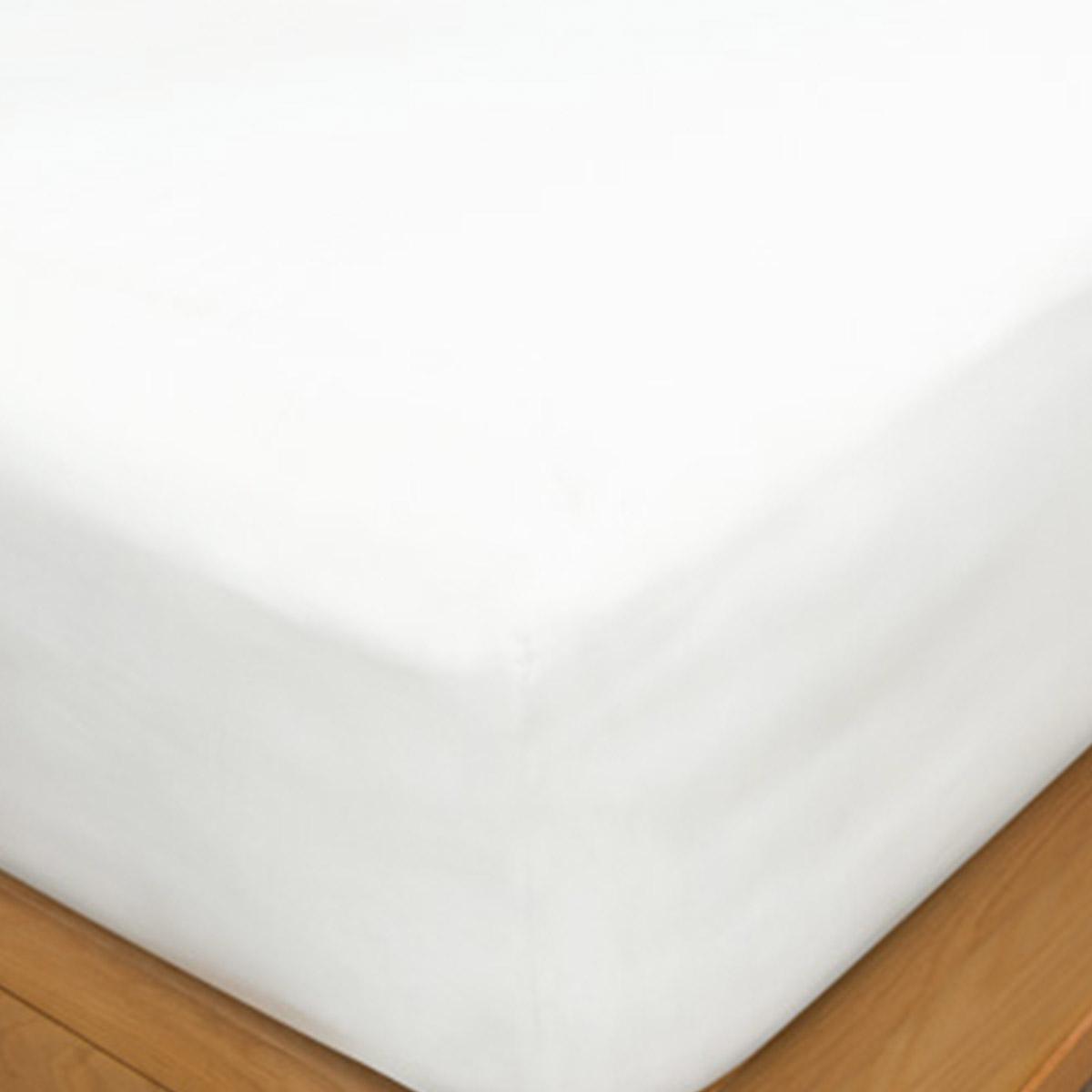 White 200 Thread Count Organic Cotton Double Flat Sheet
