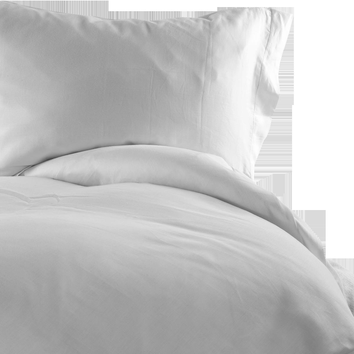 White 300 TC Easycare Cotton With Tencel Superking Duvet cover