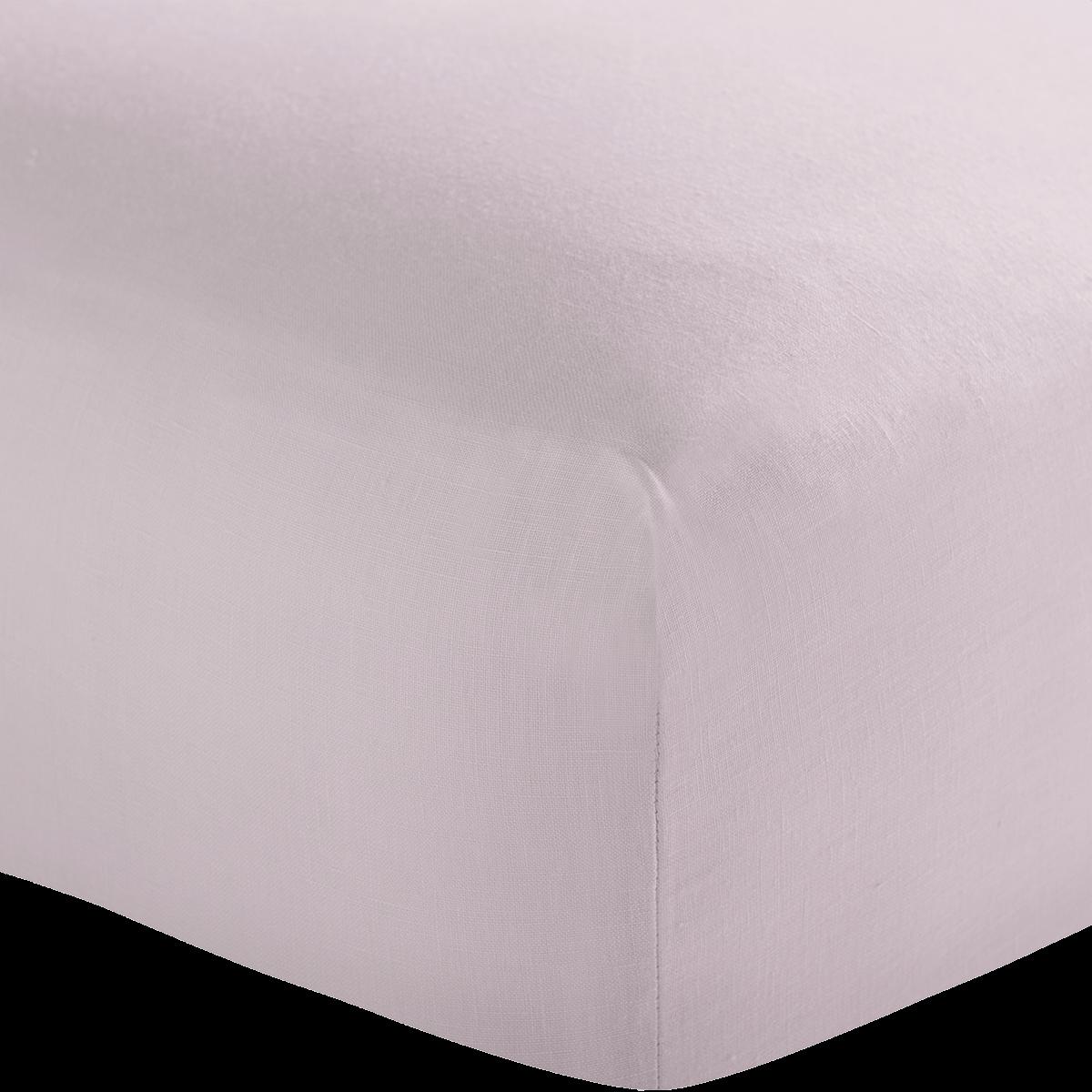 Blush Pink French Linen Superking Flat Sheet