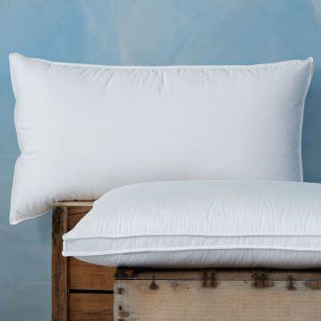 100% Canadian Goose Down Standard Pillow Pair - Medium/Firm