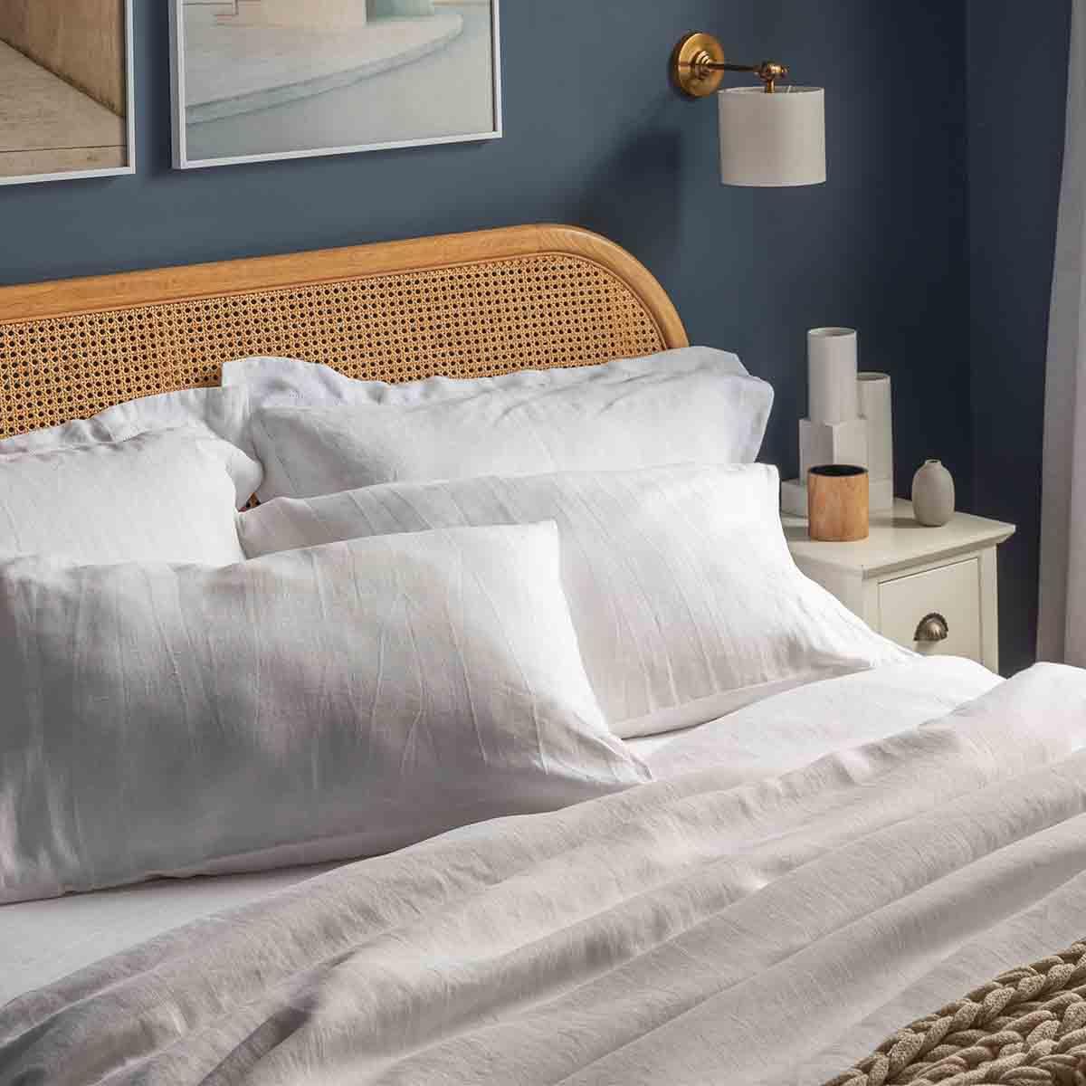 Chalk Pure Hemp Double Bed Set