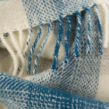 Soft Check Throw - Blue