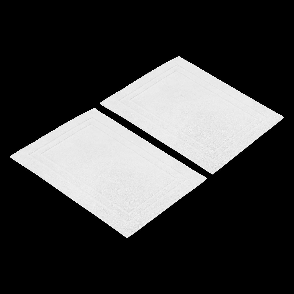 White Luxury Egyptian Cotton Medium Bath Mat Multipack - Set of 2