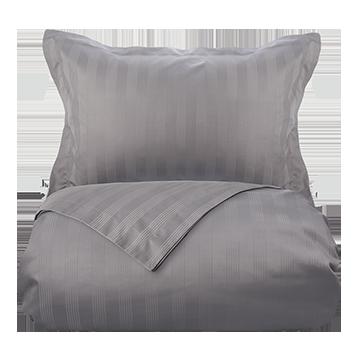 Mid Grey 400 Thread Count Dobby Stripe Egyptian Cotton Single Duvet Cover