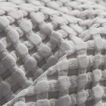 Light Grey Waffle Cotton Double Bedspread