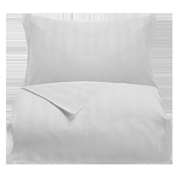 White 400 Thread Count Dobby Stripe Egyptian Cotton Double Bed Set