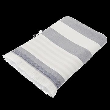Blue Striped Cotton Pool Towel