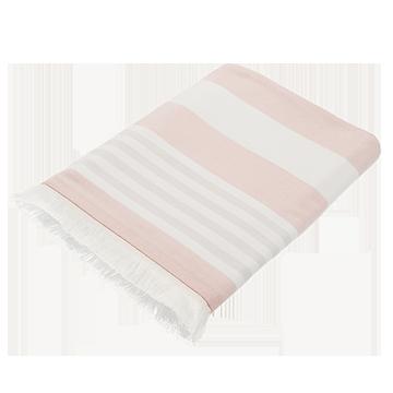 Pink Striped Cotton Pool Towel