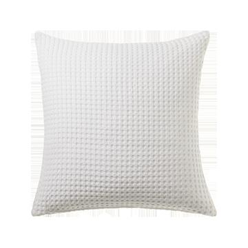 White Waffle Cotton Large Cushion Cover