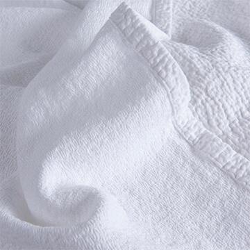 White Textured Matelasse Cotton King/Superking Bedspread