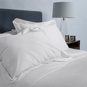 White/Grey 600 Thread Count Egyptian Cotton Standard Oxford Pillowcase Pair