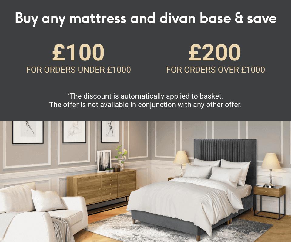 Buy a mattress and divan base and save