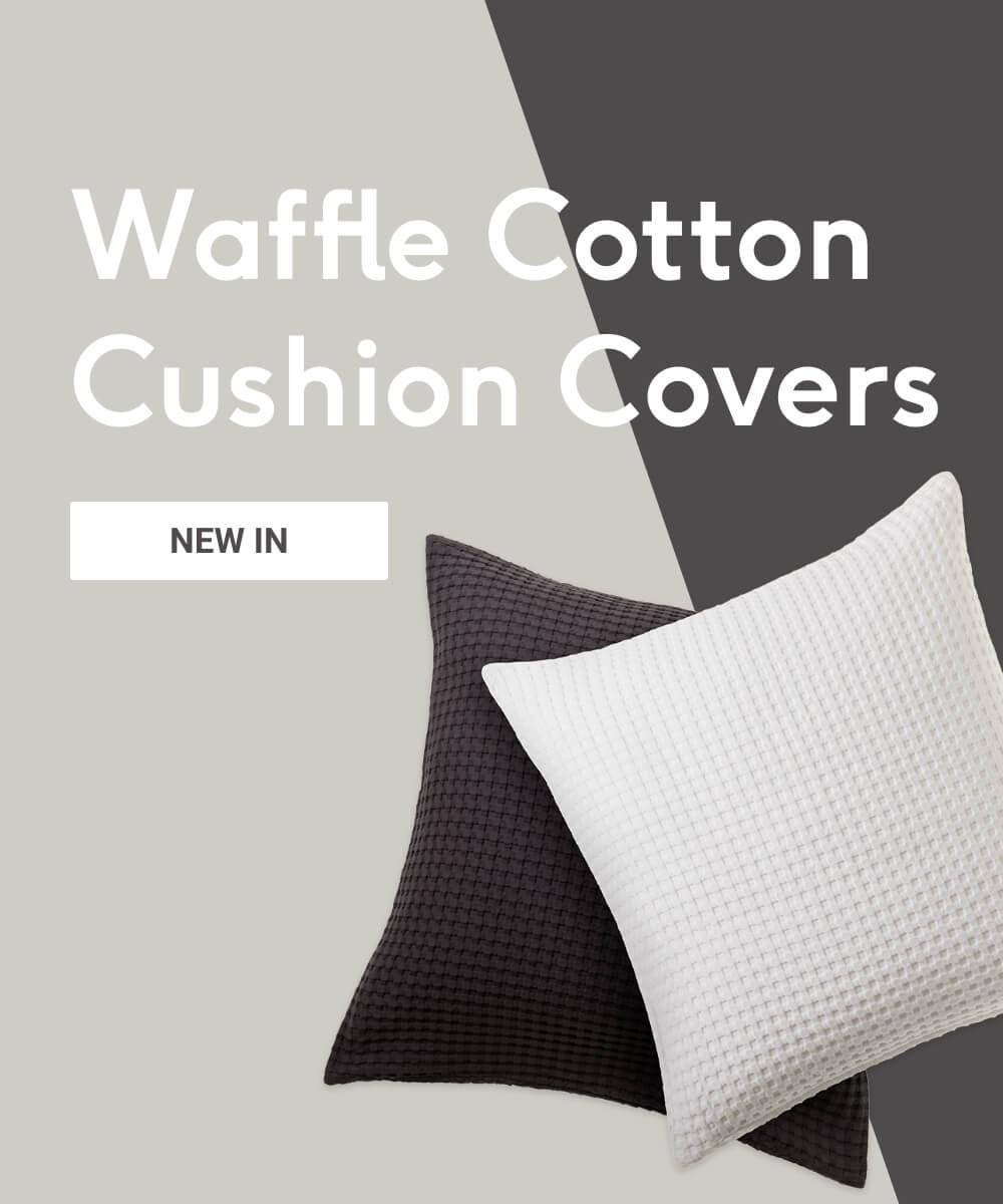 Waffle Cotton Cushion Covers