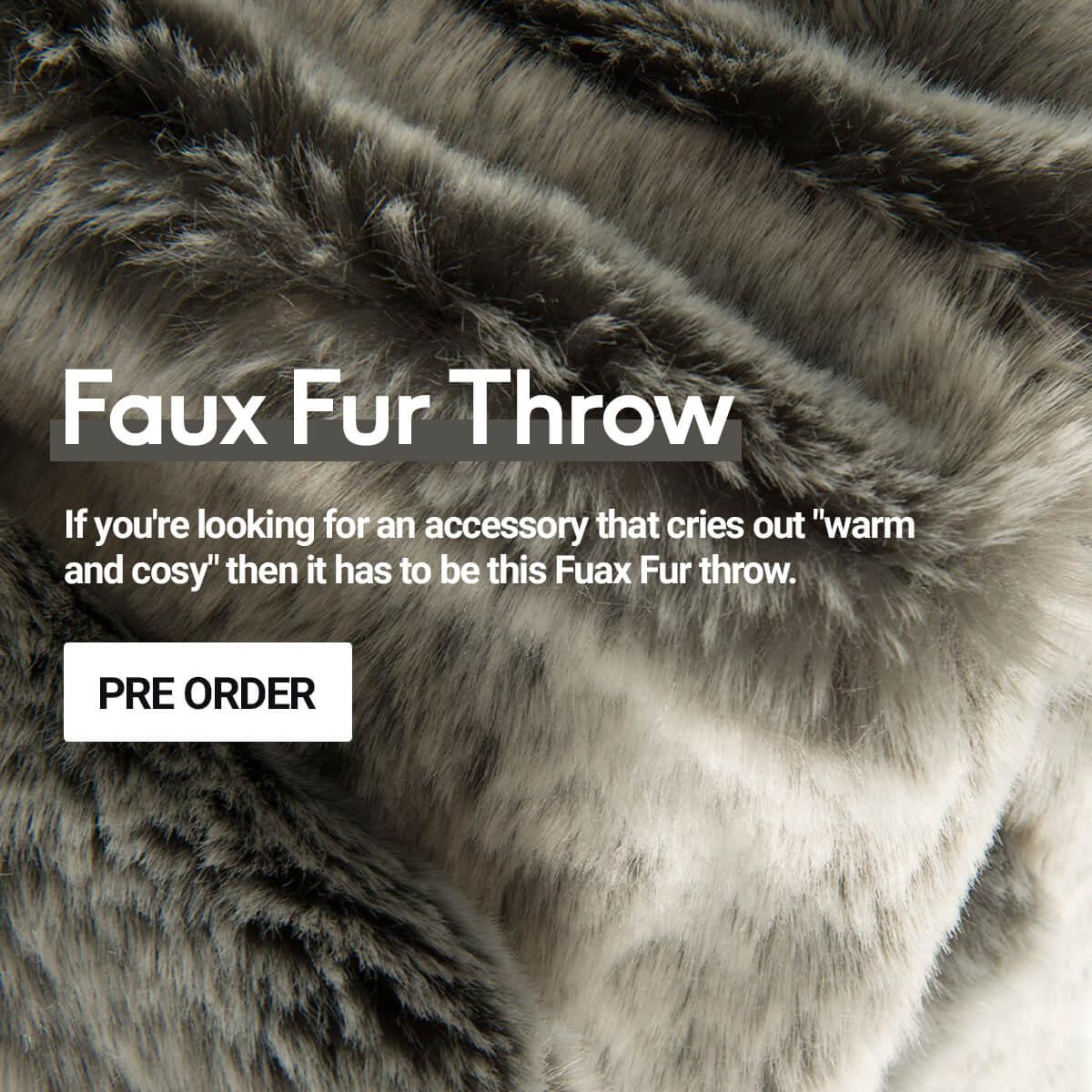 Faux Fur Throw - Pre Order