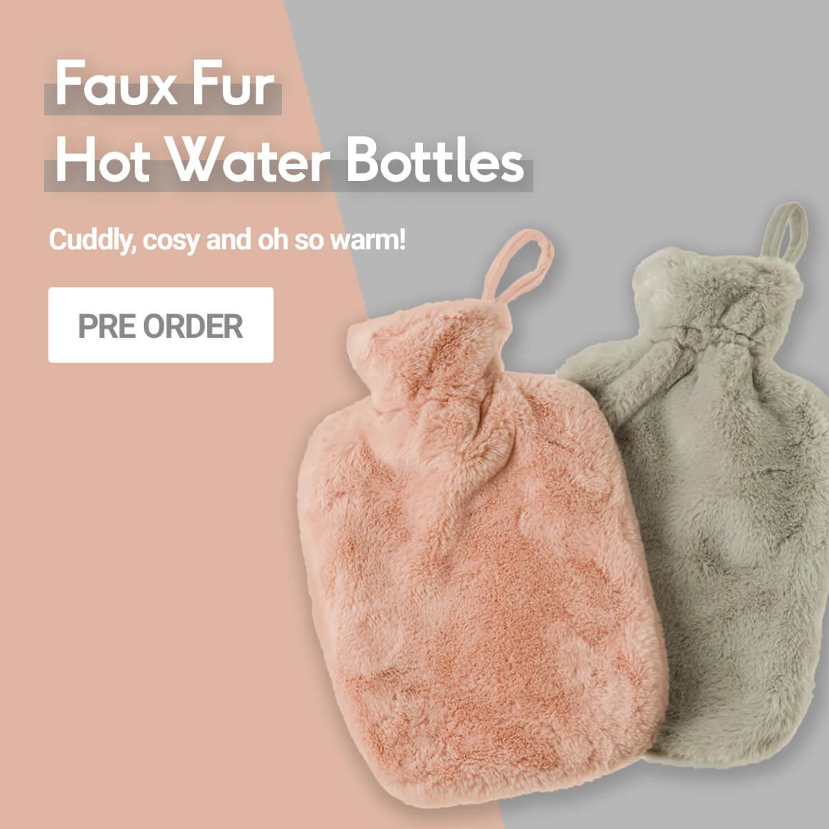 Faux Fur Hot Water Bottles - Pre Order
