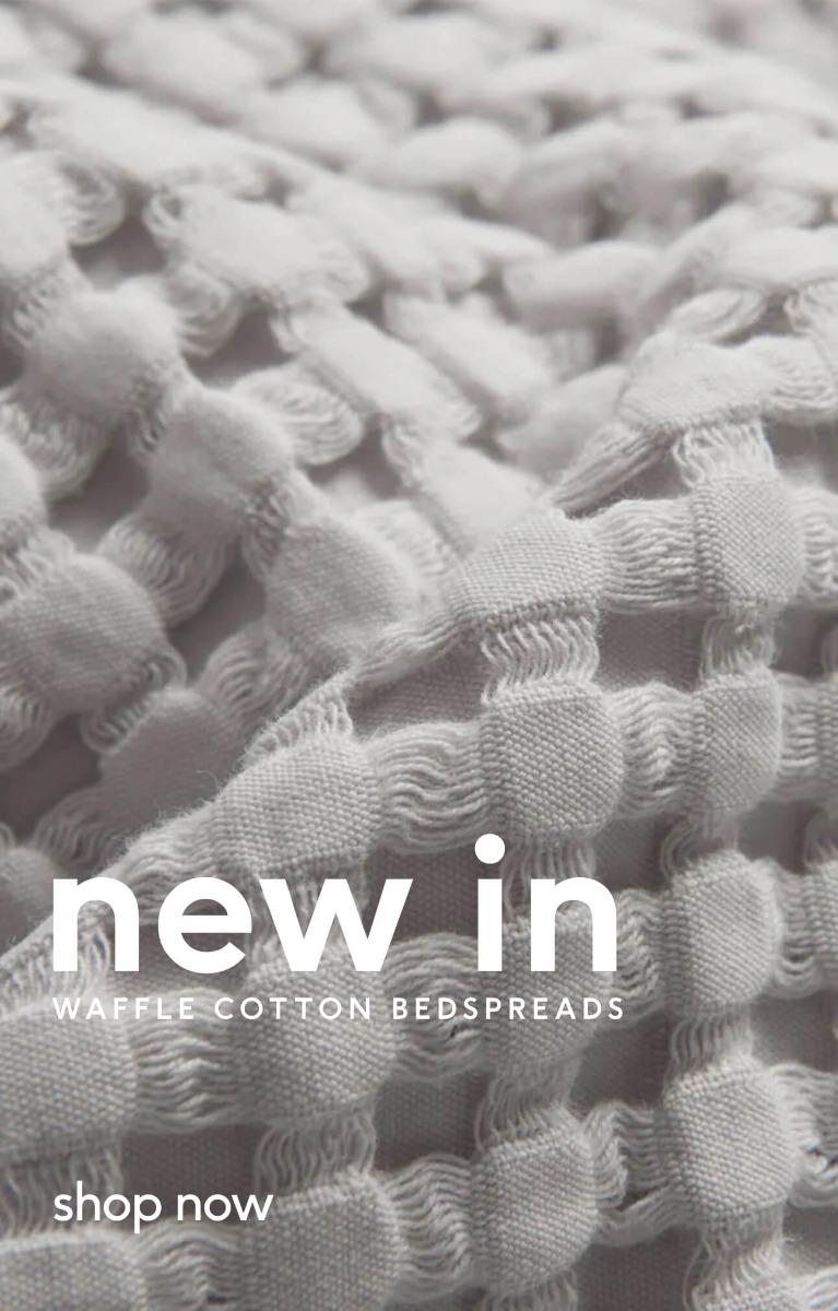 Shop New Light Grey Waffle Bedspreads