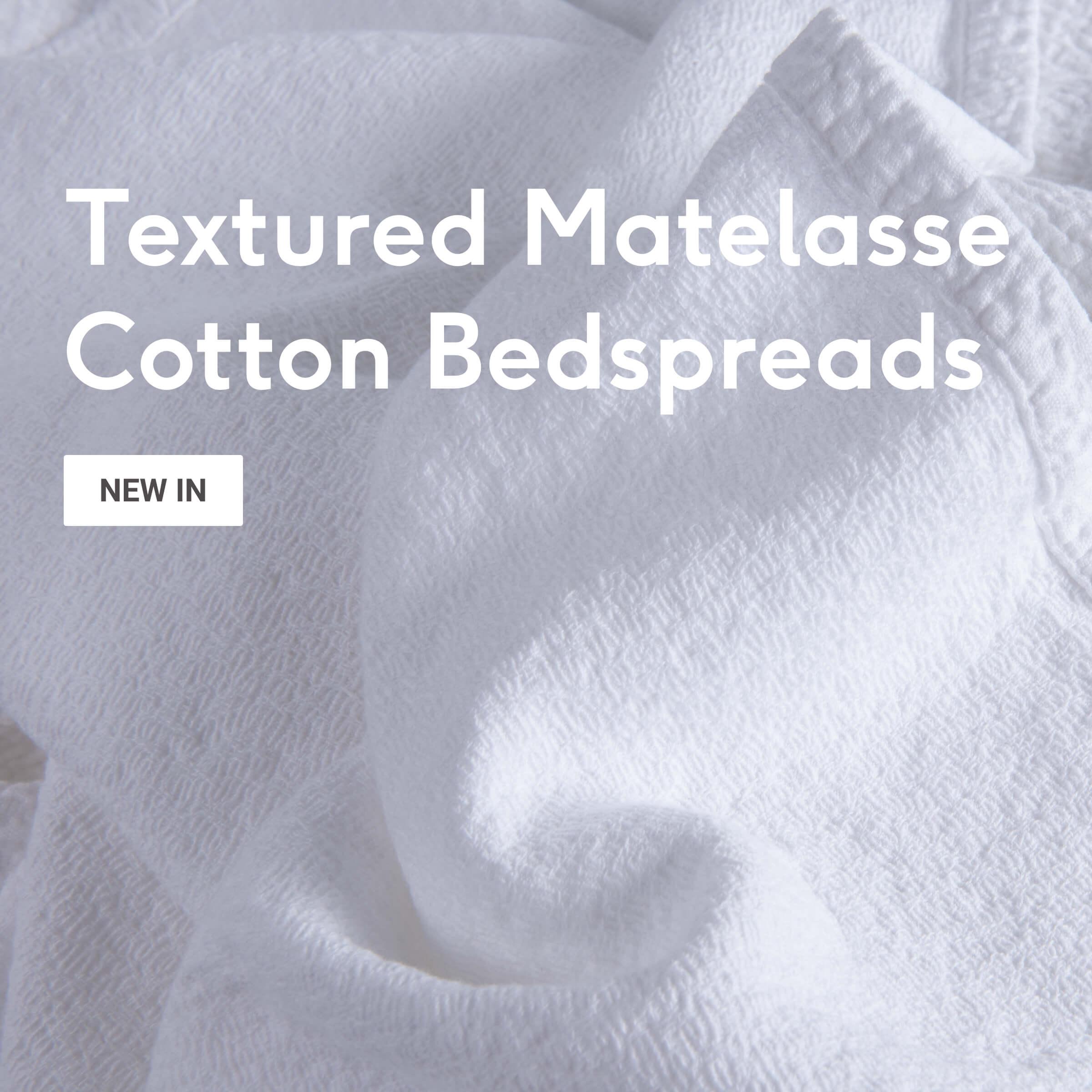 Textured Matelasse Cotton Bedspreads