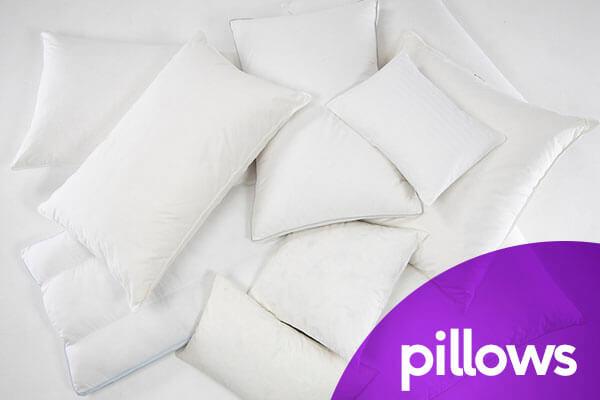 pile of white pillows