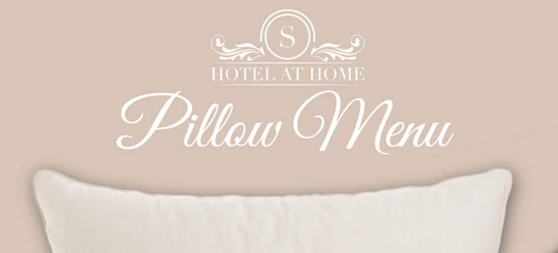 Hotel pillow menu