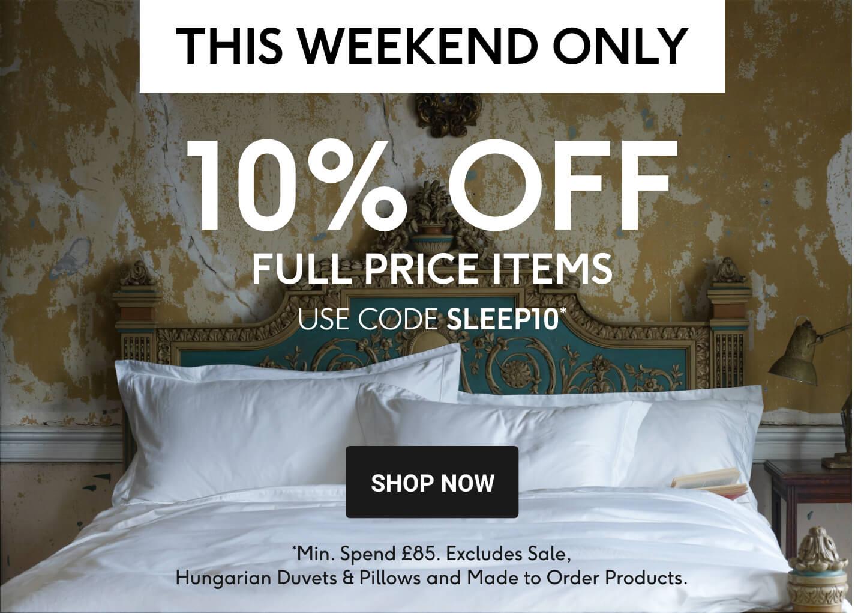 10% OFF Full Price - Sleep10