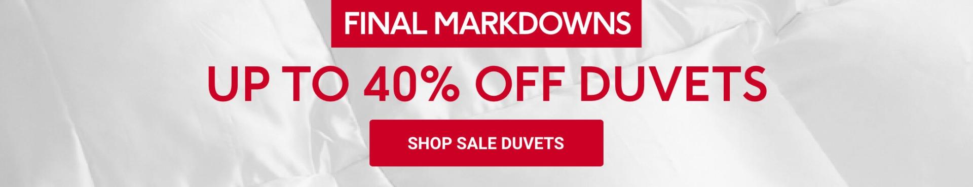 Sale Duvets
